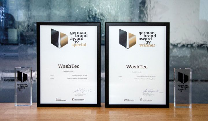WashTec receives the German Brand Award in two categories!